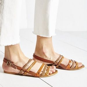 Ecote braided leather sandals